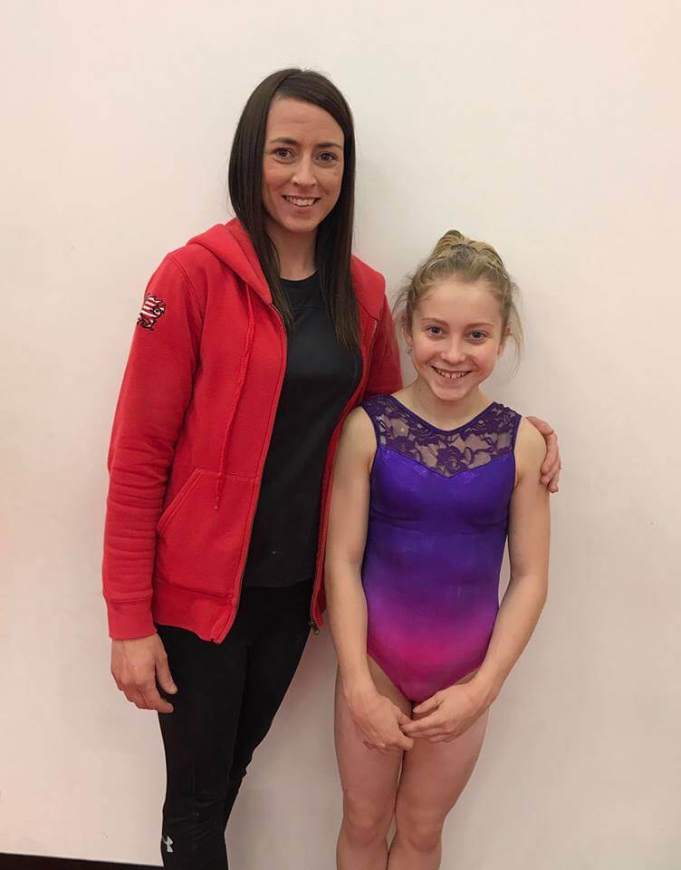 Sioned Thomas with coach Natalie Lucitt
